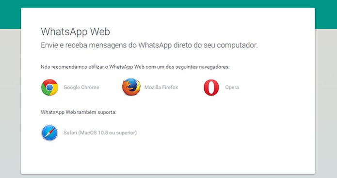entrar no WhatsApp Web